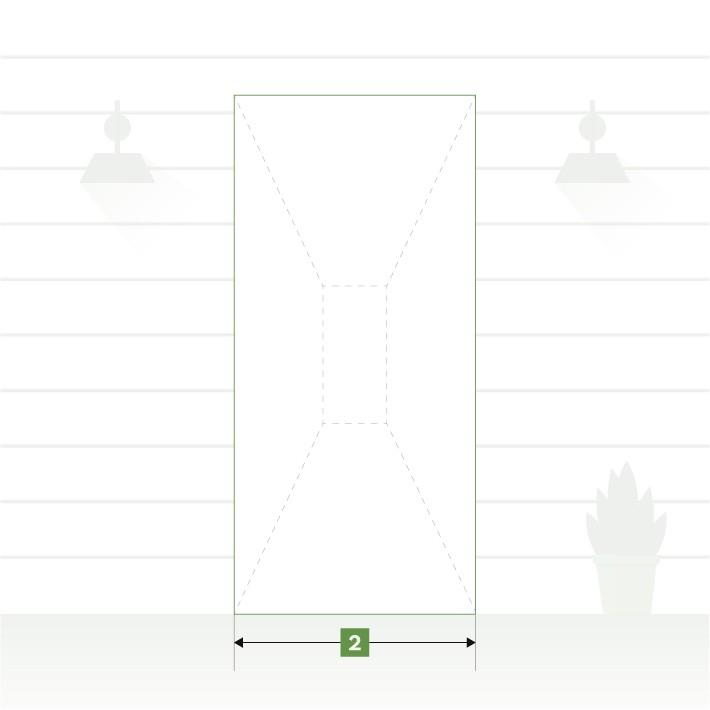 Porte d'entrée pose en neuf - largeur de tableau