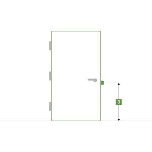 Porte d'intérieure sur-mesure sans bloc - Hauteur du pêne demi-tour