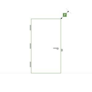 Porte d'intérieure sur-mesure sans bloc - Épaisseur