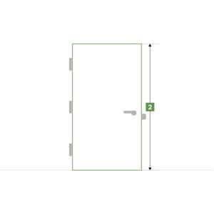 Porte d'intérieure sur-mesure sans bloc - Hauteur