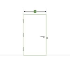 Porte d'intérieure sur-mesure sans bloc - Largeur