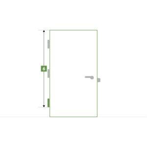 Porte d'intérieure sur-mesure sans bloc - Paumelle basse