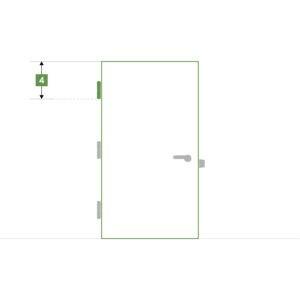 Porte d'intérieure sur-mesure sans bloc - Paumelle haute