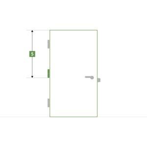 Porte d'intérieure sur-mesure sans bloc - Paumelle milieu