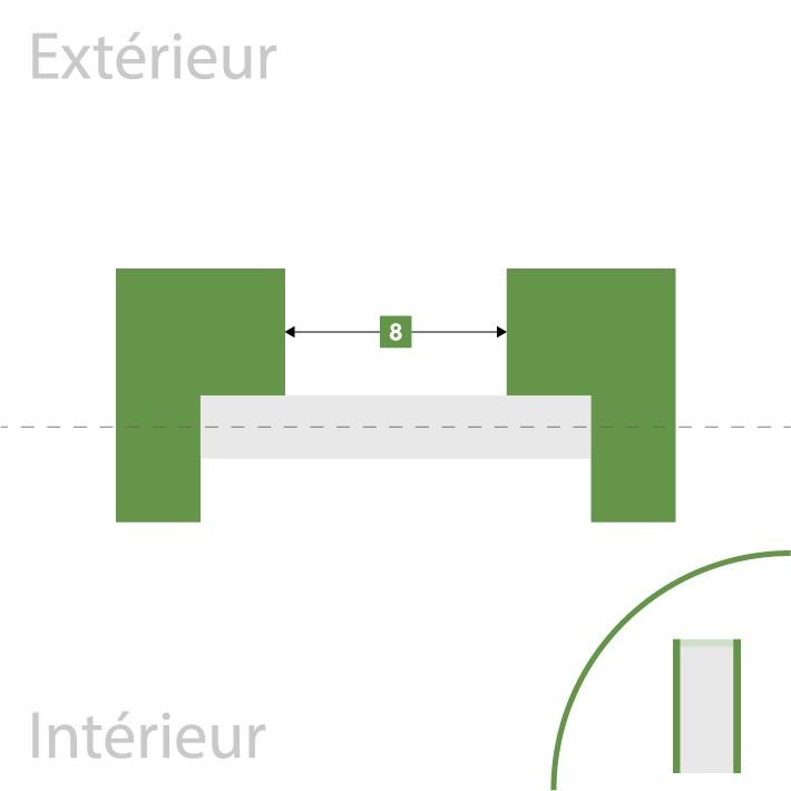 Porte d'entrée sur-mesure - Largeur de passage libre