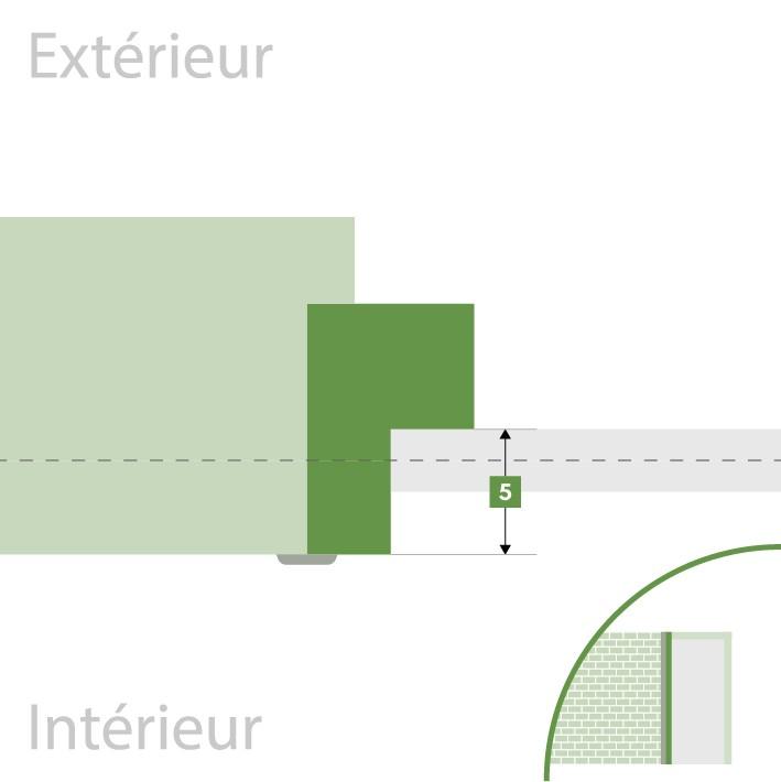 Porte d'entrée sur-mesure - Profondeur de feuillure