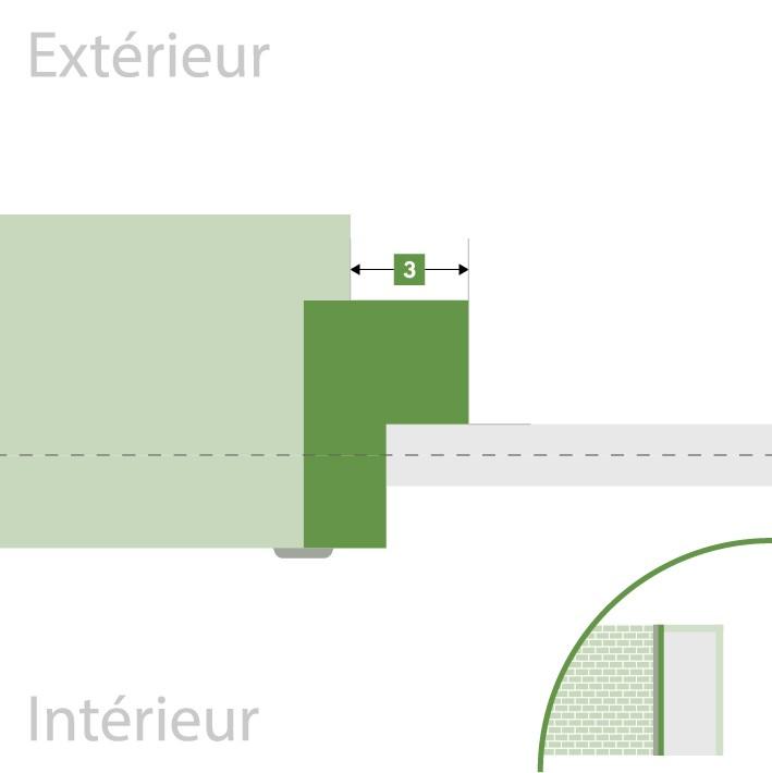 Porte d'entrée sur-mesure - Recouvrement extérieur