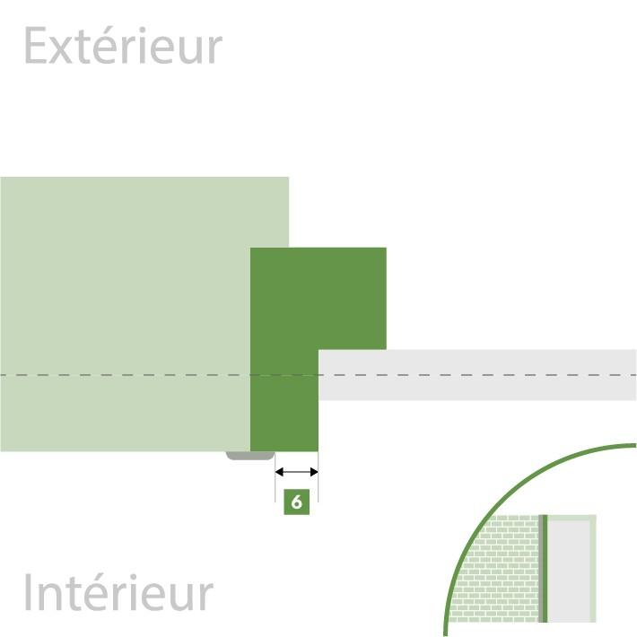 Porte d'entrée sur-mesure - Recouvrement intérieur