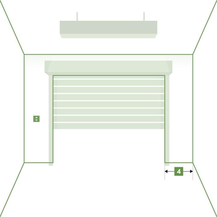 Porte de garage enroulable sur-mesure - Écoinçon droite