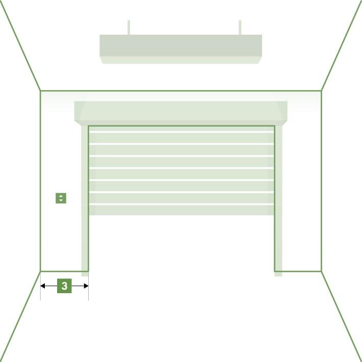 Porte de garage enroulable sur-mesure - Écoinçon gauche