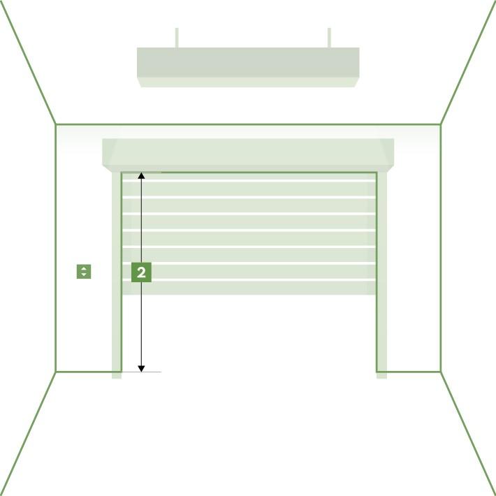 Porte de garage enroulable sur-mesure - hauteur