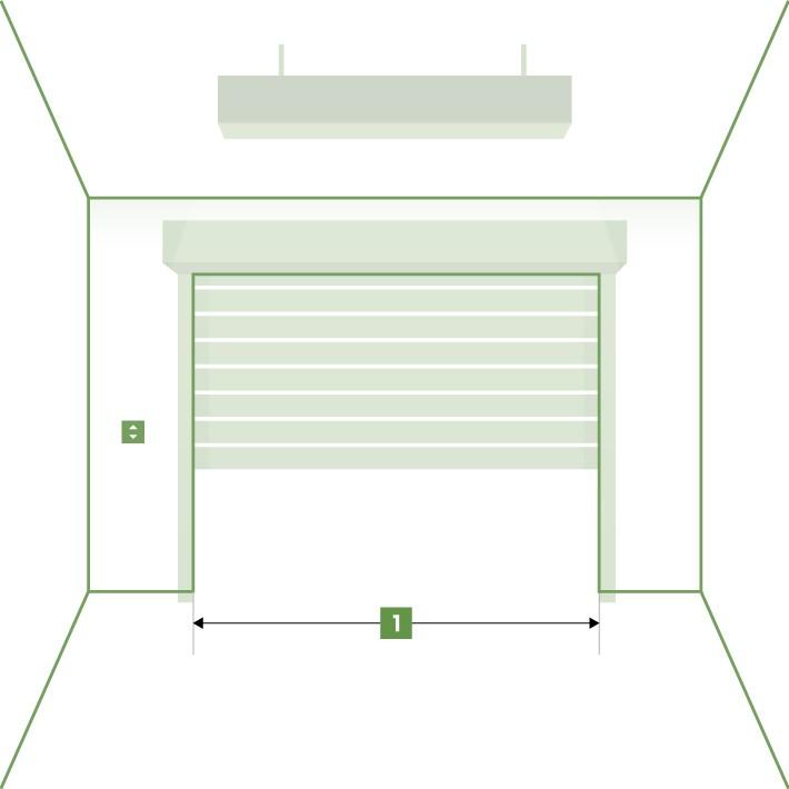 Porte de garage enroulable sur-mesure - Largeur