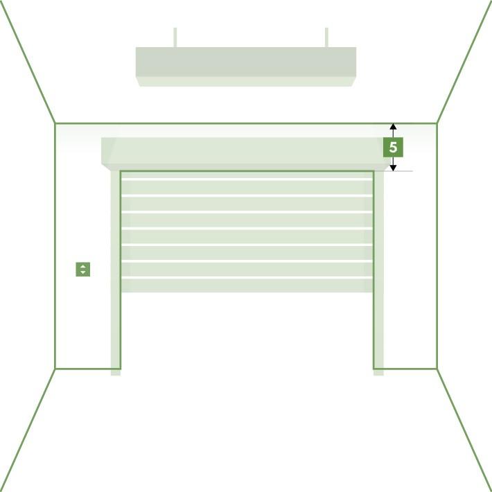 Porte de garage enroulable sur-mesure - Retombée linteau